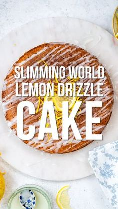 Slimming World Lemon Cake This Slimming World Lemon Drizzle Cake will satisfy your cravings without piling on the calories. An airy sponge cake soaked with lemon syrup drizzled with a light glaze – perfect with a cup of tea and only 4 syns per slice! Slimming World Desserts Puddings, Slimming World Cookies, Slimming World Deserts, Slimming World Speed Food, Slimming World Dinners, Slimming World Recipes Syn Free, Slimming Eats, Slimming World Biscuits, Baked Oats Slimming World