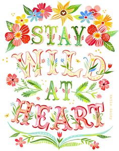 Wild at Heart - Vertical Print. #check #quote #print ❤️