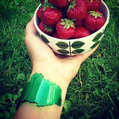 A great summer with strawberries and FOREST bracelet from Memories of Sweden.  www.memoriesofsweden.com