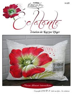 Eclatante Tole Painting, Fabric Painting, Painted Bags, Hand Painted, Scatter Cushions, Throw Pillows, Cushion Covers, Pillow Covers, Floral Pillows