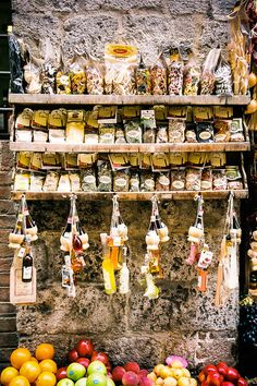 Fruit & Pasta Stall, Florence, Italy
