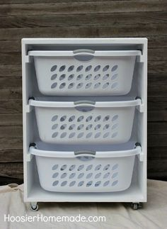 Mobile Laundry Station | Genius Laundry Storage Ideas You Can DIY