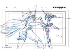 ....The Magic of Animation — artbooksnat:Kill la Kill (キルラキル) Key frames from...
