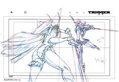 ....The Magic of Animation — artbooksnat:Kill la Kill (キルラキル) Key frames from...