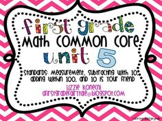 CC math= deep thinking, deep discussion, and fun Unit 5 is completely written around the math CC standards. It is the last unit in this series.  It covers standards:-1.MD.1 and 2-MeasurementStudents will be measuring in nonstandard units with Goldilocks and the three bears.