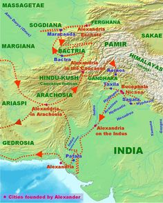 Map of Alexander the Great's India Campaigns, from 327 to 325 BC. The Classical Period is considered to have ended when Alexander the Great died in 323 BC.