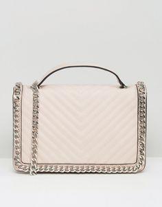 a80905bbdada Trendy Women s Bags   Chevron chain detail shoulder bag in blush by ALDO.  Cart by ALDO