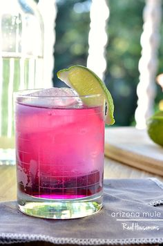 This cocktail has a bright color from the prickly pear and a kick at the end from the jalapeno infused vodka. It will be a hit every time you make it!