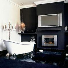 Badezimmer Designs mit Einbaukamine 2014