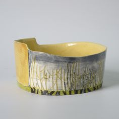 Pirton ash hedge: shallow cylinder x x Shallow, Hedges, Earthenware, New Work, Serving Bowls, Ash, Cuff Bracelets, Ceramics, Tableware