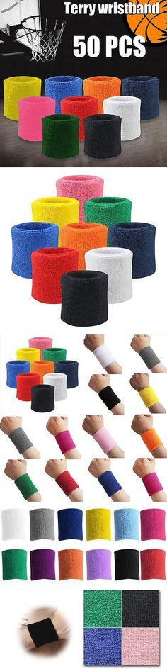 Wristbands 169276: 50Pcs Wrist Bands Sport Terry Cloth Wristband Unisex Cotton Sweatband Basketball -> BUY IT NOW ONLY: $67.56 on eBay!
