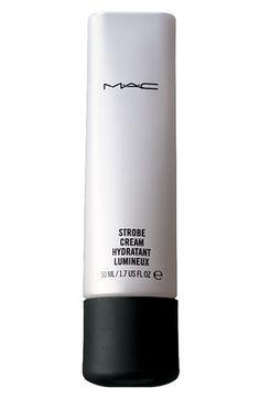Fab Four: MAC Summer Must-Haves MAC Strobe Cream– the ultimate pre-make up moisturizer Makeup Moisturizer, Makeup Primer, Moisturiser, Best Mac Makeup, Best Makeup Products, Beauty Products, Latest Makeup, Strobing, Mac Make Up