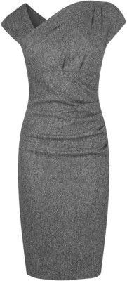 L.K. Bennett L.K. Bennett Elysia Wool Tailored Dress - L.K.B... - Polyvore