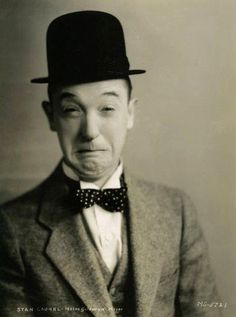 It's Monday & this is the face I'm making right now.  (Stan Laurel)
