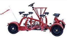 Okay, so... not an office space. But... A Conferencebike! 7 people, 1 steerer, 1 mobile conference!