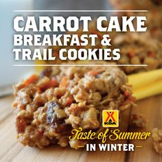 Carrot Cake Breakfast & Trail Cookies