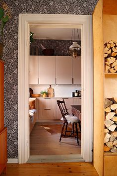 Our new rustic oak kitchen. Vintage Interiors, Midcentury Modern, Vintage Furniture, Oversized Mirror, Mid Century, Rustic, Living Room, Kitchen, House