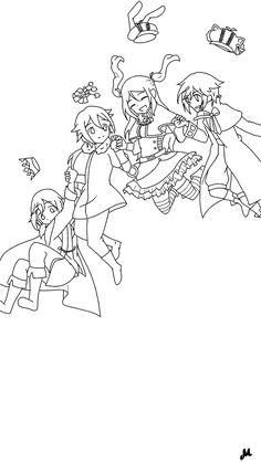 My beloved little guild #Toram_Online_OCs #Little_Guild