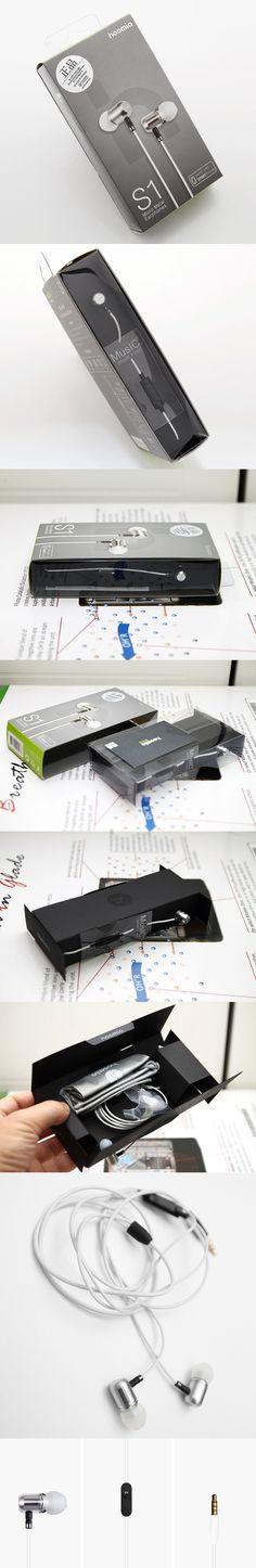 hoomia S1 Micro Metal series earphone package design.