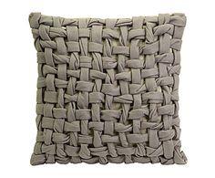 cuscino decorativo tricot in misto cotone Thatcher - 51x51 cm