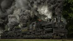 """CSRR 6 Cass Scenic Railroad Steam Shay at Cass, West Virginia by Jeff Terry. During Railfan Weekend's Shay runbys on Saturday morning, I went a little more """"nose on"""" than most other folks, in an attempt to include all five Shay engines in the shot. Zug Wallpaper, Train Wallpaper, Train Pictures, Cool Pictures, Maryland, Heritage Railway, Old Steam Train, Old Trains, Vintage Trains"""