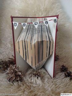 kirja,diy,viiri,sydän,koristelu