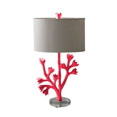 A funky pink tulip lamp from Stray Dog Designs! Perfect for a girl's room, don't you think?
