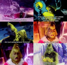 the awkward moment when you used to watch the grinch because it was funny, and now you realize.... you are the grinch.