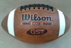 WILSON leather 1003 NCAA Collegiate GST FOOTBALL (made in USA)