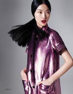 tian yi model6 Tian Yi Wears New Season Fashions for Vogue China by Stockton Johnson