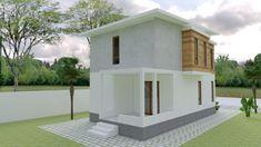 Small Home design Plan with 3 Bedroom - SamPhoas Plan Simple House Design, Minimalist House Design, Model House Plan, Small House Plans, Bedroom House Plans, House Rooms, Townhouse Designs, Villa Design, Story House
