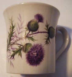 Burnside Pottery Moffat Scotland Floral Mug or Cup by parkledge, $10.00