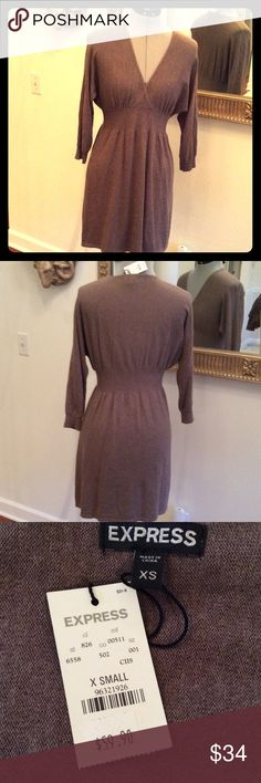 💰SALE‼️Express save Brown sweater dress, size XS, comfy cozy new by Express Express Dresses