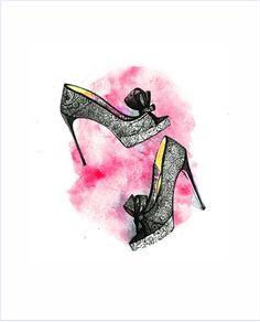 Imagens para quadrinhos - poster para imprimir - sapato-salto -Blog Dikas e diy