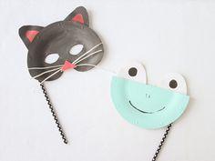 Paper Plate Animal Masks / Μάσκες ζωάκια από χάρτινα πιάτα