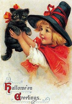 little witch with kitty