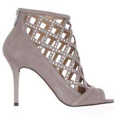770d1e4f0d91 MICHAEL Michael Kors Yvonne Caged Open Toe Dress Sandals Pearl Grey 6US
