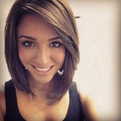Looking for a new fresh bob hairstyles? Here we have rounded Layered Bob Haircuts 2015 - 2016 for you to get inspirational ideas. Bob hairstyles are in. Pretty Hairstyles, Bob Hairstyles, Hairstyles With Side Bangs, Gypsy Hairstyles, Lob Haircut With Bangs, Haircut Long, Perfect Hairstyle, Stylish Hairstyles, Hairstyle Short