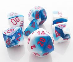 Gemini Dice (Astral Blue) RPG Role Playing Game Dice Set