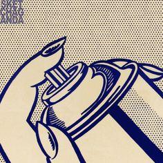 Lichtenstein's spray can gif by Sketchaganda Roy Lichtenstein Pop art
