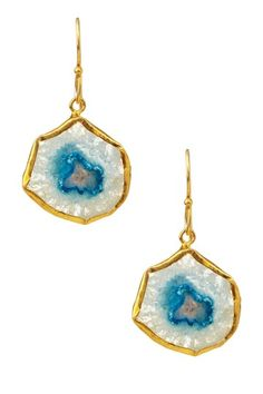 Loving these stone and gold plated earrings from N'Luxe!