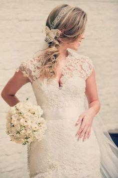 Resultado de imagem para penteado noiva romantico