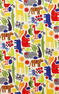 2  D Zoo Primary by Alexander Henry Fabric by by spiceberrycottage, $9.50