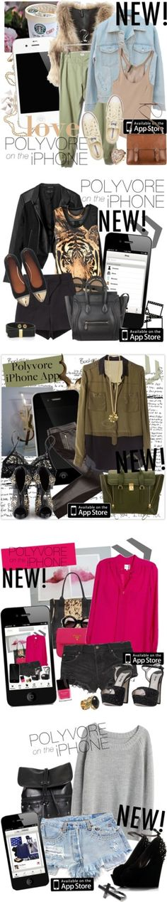 """Design an Ad for the Polyvore iPhone App"" by miss-chessie-cat ❤ liked on Polyvore"