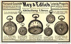 Original-Werbung/ Anzeige 1898 - UHREN / MEY & EDLICH / LEIPZIG-PLAGWITZ…