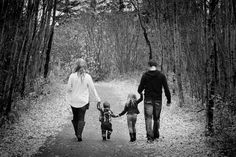 Family Pose walking.