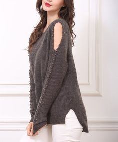 cf85b47ceb Another great find on  zulily! Coffee Cable-Knit Wool-Blend Cutout Sweater