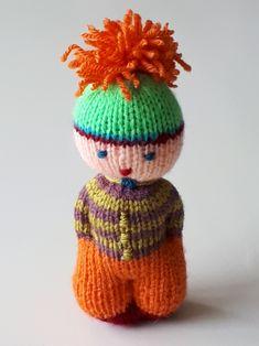 Knitted Doll Patterns, Knitted Dolls, Amigurumi Patterns, Knitting Patterns, Knitting Toys Easy, Lace Knitting, Circular Knitting Machine, Worry Dolls, Tiny Dolls