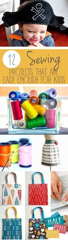 12 Sewing Projects That Are Easy Enough for Kids