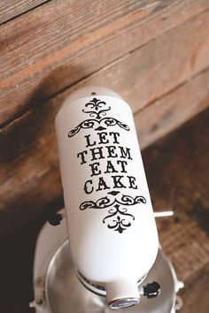 Let them eat cake damask mixer decal by BrookLeeCreations on Etsy, $6.00